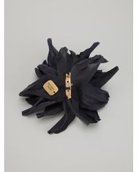 Erika Cavallini Semi Couture | Black Chrysanthemum Flower Brooch | Lyst