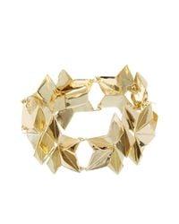 Gillian Steinhardt | Metallic Gold Plated Origami Bracelet | Lyst