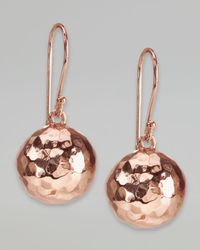 Ippolita | Metallic Hammered Ball Earrings Rose Gold | Lyst