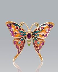 Jay Strongwater - Multicolor Arlyn Grand Butterfly Pin - Lyst