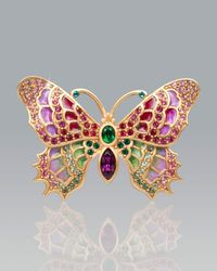 Jay Strongwater | Multicolor Irie Embellished Butterfly Pin | Lyst