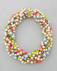 kate spade new york | Multicolor Bungalow Bouquet Twist Necklace | Lyst