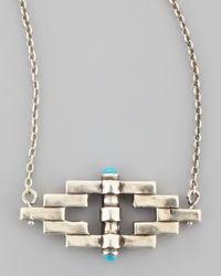 Pamela Love - Metallic Small Reflection Pendant Necklace - Lyst