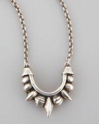 Pamela Love - Metallic Small Spike Necklace - Lyst
