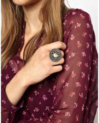 Deepa Gurnani - Metallic People Tree Taja Diamante Ring - Lyst