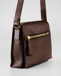 Tom Ford | Black Pebbled Leather Duffel Bag for Men | Lyst