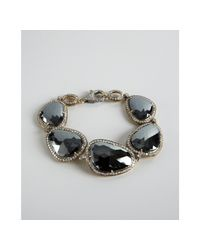 Amrapali - Metallic Black Spinel and Diamond Bracelet - Lyst