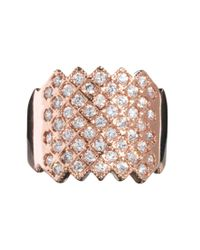 ASOS - Stone Studded Pinky Ring - Lyst