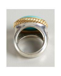 David Yurman - Metallic Turquoise Signature Oval Stone Ring - Lyst