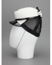 DSquared² - White Bow Cap - Lyst
