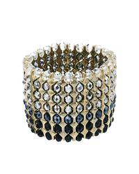 French Connection - Metallic Sparkle Stretch Bracelet - Lyst