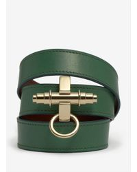 Givenchy - Green Obsedia Wrapped Leather Bracelet - Lyst