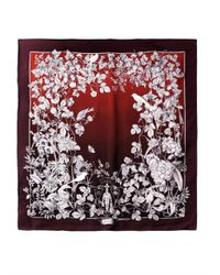 Gucci | Red Botanicalprint Silk Scarf for Men | Lyst