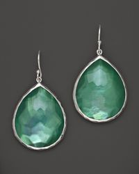 Ippolita - Green Sterling Silver Wonderland Teardrop Earrings In Mint - Lyst
