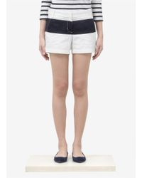 J.Crew - White Chino Shorts In Colour-block - Lyst