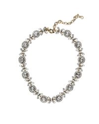 J.Crew | White Crystal Floral Garland Necklace | Lyst