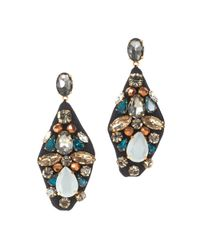 J.Crew - Blue Embroidered Jewel Earrings - Lyst