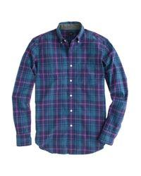 J.Crew   Blue Tartan Shirt in Rustic Purple for Men   Lyst