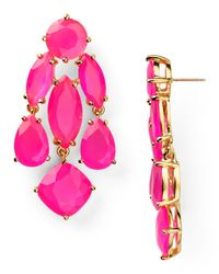 kate spade new york | Pink Statement Earrings | Lyst
