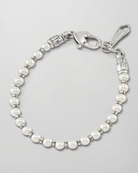 Lagos | Metallic Kinder Sterling Silver Pearl Bracelet | Lyst