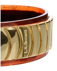 L.K.Bennett - Metallic Tortoiseshell Bangle - Lyst