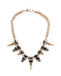 Mango   Metallic Beaded Chain Necklace   Lyst