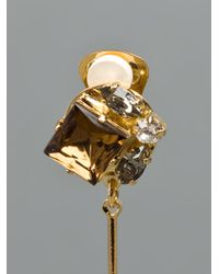 Marni - Metallic Dropped Gem Earrings - Lyst