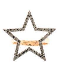 Rosa De La Cruz | Black 18k Rose Gold And Diamond Ring | Lyst