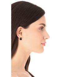 Adia Kibur - Black Stud Earrings - Lyst