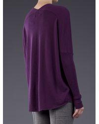 Allude - Purple Cashmere Pullover - Lyst
