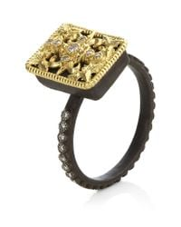 Armenta | Metallic Diamond Tapestry Ring | Lyst