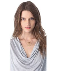 Jennifer Zeuner - Metallic Art Deco Love Necklace - Lyst