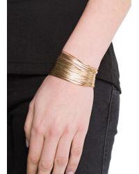 Mango - Metallic Touch Snake Chains Bracelet - Lyst