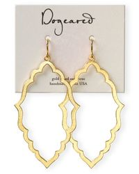 Dogeared - Metallic 14k Gold Dipped Oval Drop Earrings - Lyst