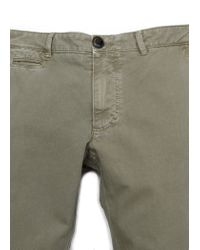 Mango - Green Slimfit Dyed Chino Trousers for Men - Lyst