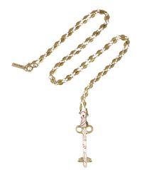 Isabel Marant | Metallic Gold-tone Resin Key Necklace | Lyst