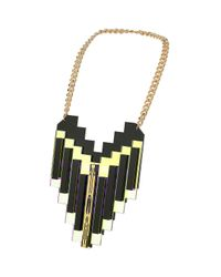 TOPSHOP - Metallic Sarah Angold For Freedom Line Necklace - Lyst