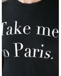 Wildfox | Black Take Me To Paris Tshirt | Lyst