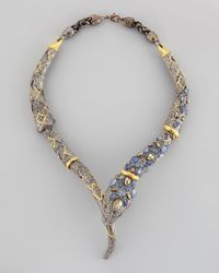 Alexis Bittar - Metallic Pave Crystal Snake Necklace - Lyst