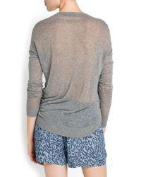 Mango - Black Strass Eagle Sweater - Lyst