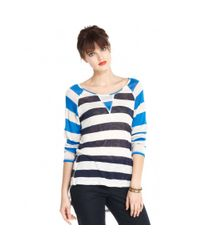 Maison Jules - Multicolor Longsleeve Scoopneck Striped - Lyst