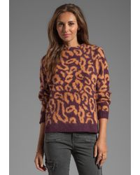 By Malene Birger - Brown Soft Jacquard Fensia Pullover in Purple - Lyst