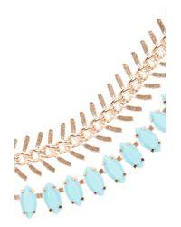 Elizabeth Cole - Metallic Rose Goldplated Swarovski Crystal Necklace - Lyst