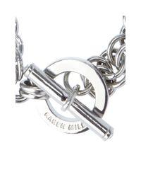 Karen Millen   Metallic Encrusted Bar & Hoop Bracelet   Lyst