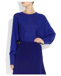 Stella McCartney | Blue Wool and Silk-Blend Sweater | Lyst
