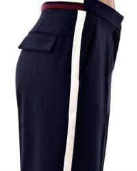 Stella McCartney   Black Cyrille Wool Tux Trousers   Lyst