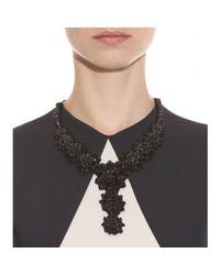 Valentino   Black Crystalembellished Necklace   Lyst