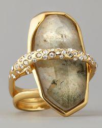 Alexis Bittar | Green Orbiting Labradorite Ring | Lyst