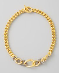 Alexis Bittar | Metallic Single Strand Chain Link Necklace | Lyst