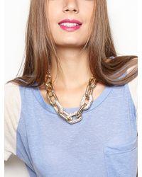 BaubleBar - Metallic Pavé Links Necklace - Lyst